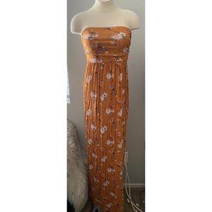 Dresses & Skirts - Mustard Maxi Dress / Maternity Dress
